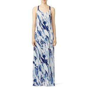 Waverly Grey Etta Maxi Dress Blue Abstract Paint